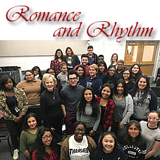 New Brunswick HS Choir with Rebecca Scott and composer Marco-Adrian Ramos